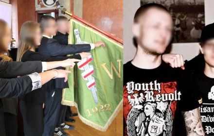 Działacze Młodzieży Wszechpolskiej blisko neofaszyzmu. Jeden z nich trafił do Polskiego Radia