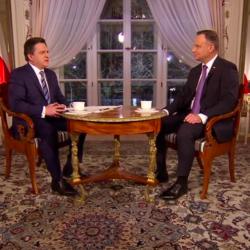 Bogdan Rymanowski, prezydent Andrzej Duda, wywiad dla Polsat, 5 lutego 2019