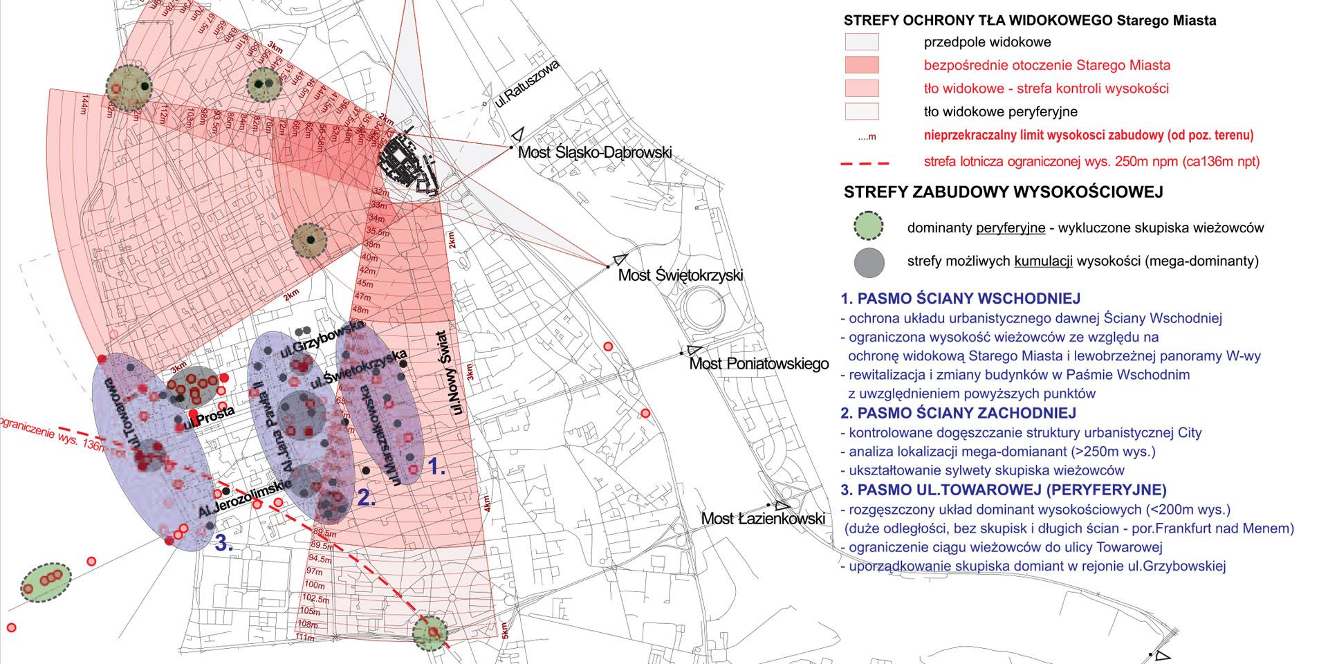 Il: Analiza urbanistyczna lokalizacji budynków wysokościowych na obszarze śródmieścia Warszawy, MPPPiSR na zlecenie Biura Architektury i Planowania Przestrzennego Urzędu m.st. Warszawy