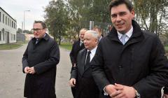 Grzegorz Bierecki, Jarosław Kaczyński i Dariusz Stefaniuk. Fot. FB PiS