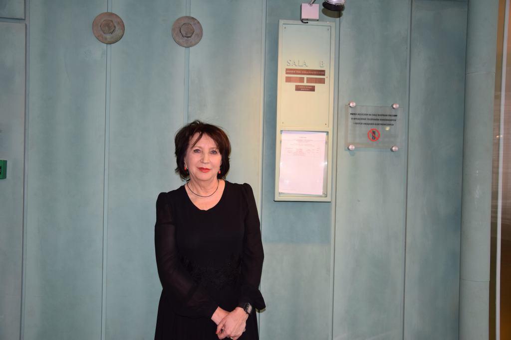 Sędzia Alina Czubieniak podczas rozprawy dyscyplinarnej w SN