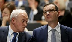 Premier Mateusz Morawiecki i minister energii Krzysztof Tchorzewski