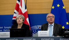 Jean-Claude Juncker, President of the EC meets Theresa May, British Prime Minister in Strasbourg