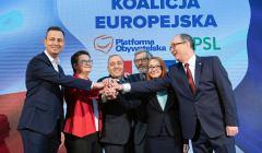 Konferencja prasowa liderow Koalicji Europejskiej