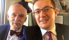 Selfie Janusz Korwin-Mikke i Robert Winnicki