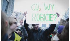 protest przeciwko działaniom polityków w sprawie ocieplenia klimatu - grozi nam wzrost temperatur o 3 stopnie