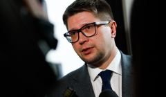 Sędzia Wojciech Łączewski po rozprawie przed sądem dyscyplinarnym w Krakowie