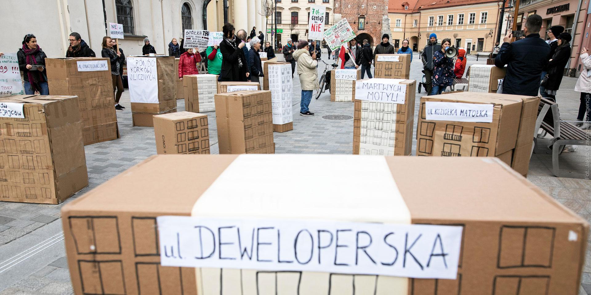 Happening przeciw zabudowie Górek Czechowskich