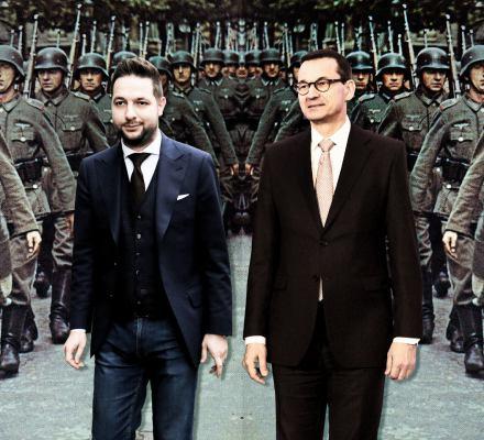 Nauczyciele jak Wehrmacht, sędziowie jak kolaboranci. Skąd te wojenne fantazje Jakiego i Morawieckiego