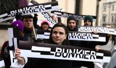 Protest w sprawie Bunkra Sztuki w Krakowie