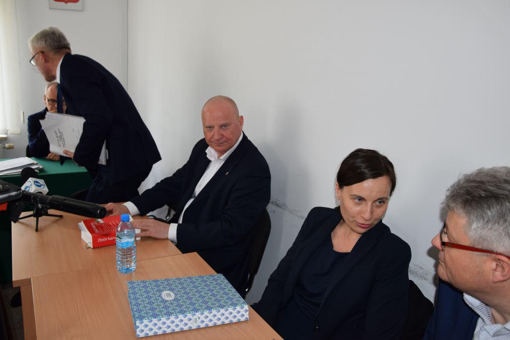 Krzysztof Parchimowicz podczas rozprawy dyscyplinarnej