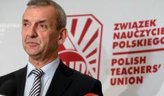 Przewodniczacy ZNP Slawomir Broniarz