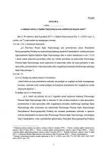 Poselski projekt nowelizacji z 17 kwietnia 2019 ustawy o Sądzie Najwyższym