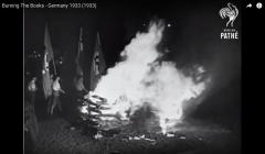 Palenie książek w III Rzeszy, 10 maja 1933, Berlin, ze zbiorów British Pathe
