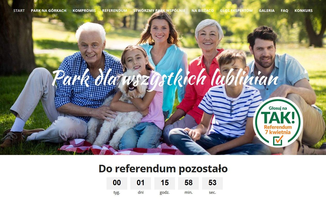 """Zrzut strony promującej głosowanie na """"tak"""""""
