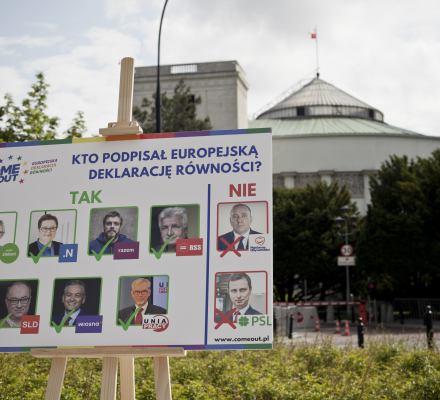 Czy mój kandydat będzie wspierał prawa osób LGBTI w PE? Sprawdź kto podpisał Europejską Deklarację Równości