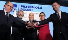 Prezentacja hasel Koalicji Europejskiej w Warszawie