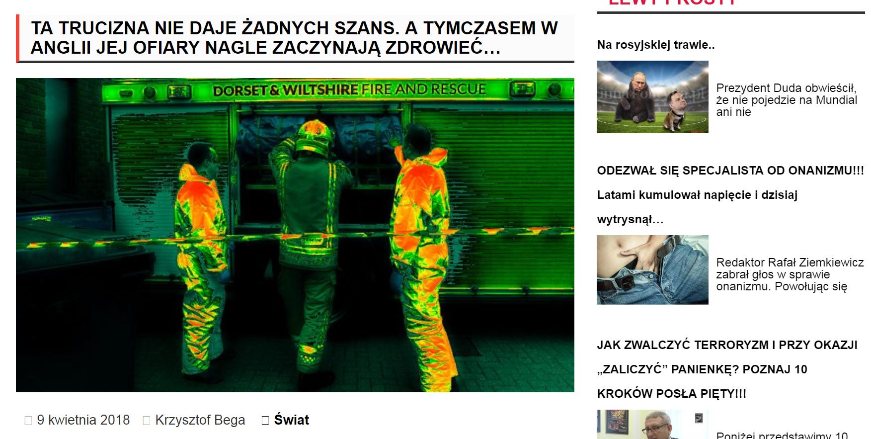 """""""Inna Polityka"""", portal Jacka Podgórskiego, b. doradcy Leszka Millera, poddawał w wątpliwość realność zamachu na Siergieja Skripala."""