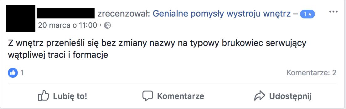 Fanpejdż na Facebooku należący do siatki Konrada Piotrowskiego i Marty Sz., szerzącej fake newsy i rosyjską propagandę oraz promującej prawicowe media.