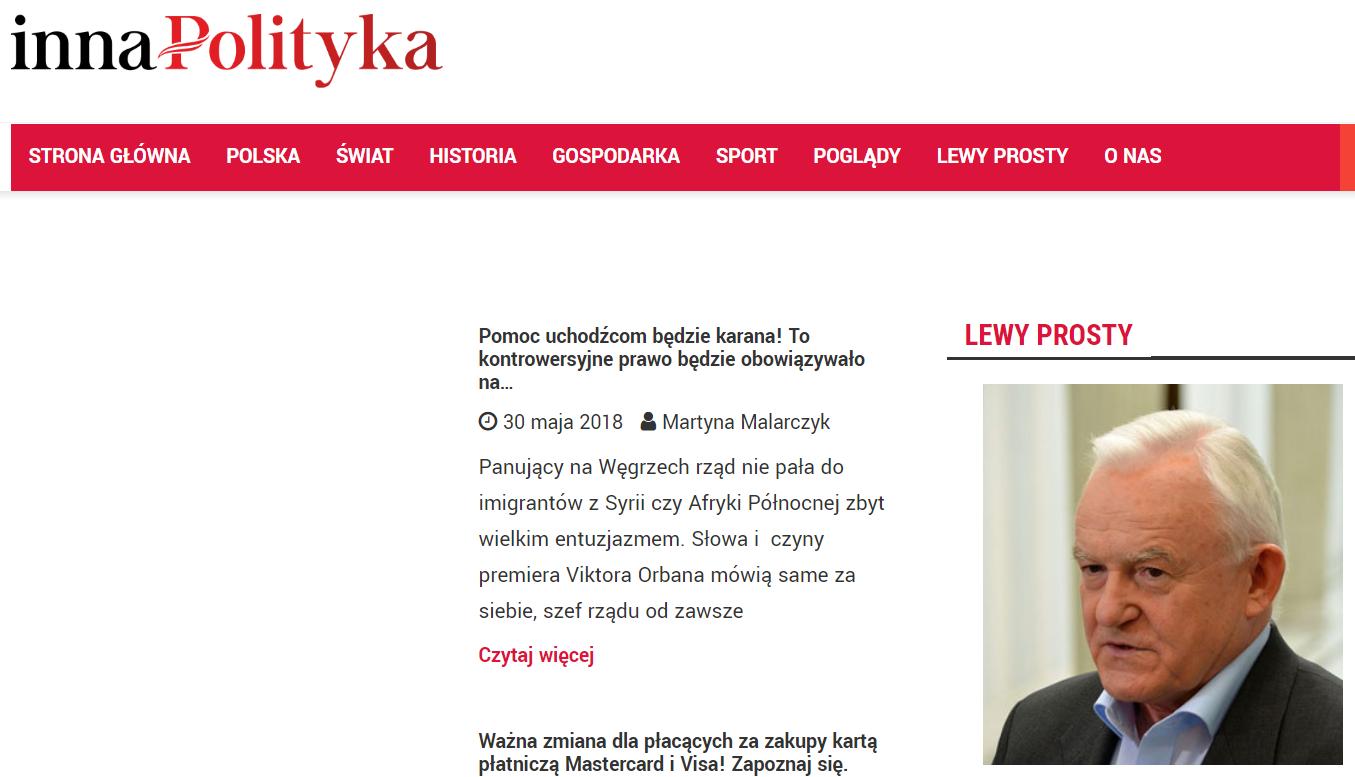 """Leszek Miller był felietonistą """"Innej Polityki""""."""