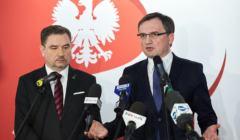 Konferencja prasowa Zbigniewa Ziobro i Piotra Dudy w Sali BHP w Gdansku