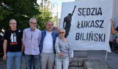 Pikieta w obronie sędziego Bilińskiego