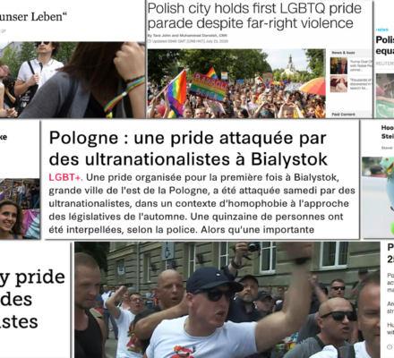 """Zagraniczna prasa od Berlina po Fidżi o marszu w Białymstoku: """"Zamiast radosnej atmosfery petardy i kamienie"""""""
