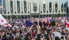 Tbilisi, antyrządowe protesty, 29 czerwca 2019, fot. Team For Freedom