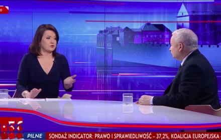 Danuta Holecka, Jarosław Kaczyński, Gość Wiadomości, TVP, 24 maja 2019