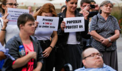 Protest niepelnosprawni