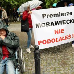 Protest osób z niepełnosprawnością