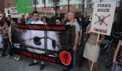 Protest przeciw fermie norek