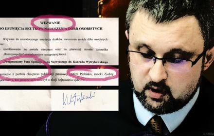 """Sędzia SN Wytrykowski żąda zdjęcia artykułu OKO.press., bo """"nie hejtował"""". Odmawiamy. Mamy nowe dowody"""