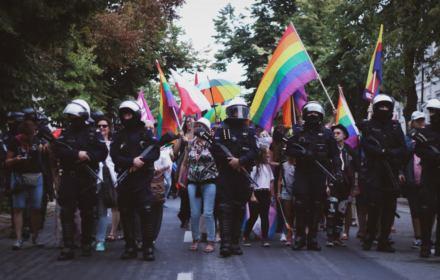 Marsz Równości w Płocku przy silnej asyście policji