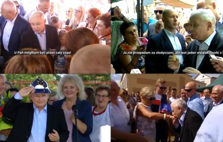 Kaczyński z rurką (z kremem). Takiego ocieplania wizerunku prezesa jeszcze nie było