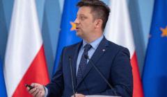 Konferencja prasowa Michala Dworczyka ws ustawy oOrganizacji Lotow Najwazniejszych Osob w Panstwie