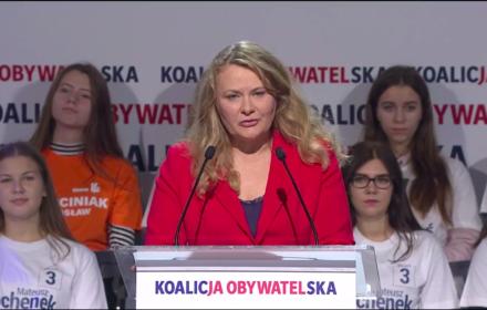 Katarzyna Piekarska, konwencja Koalicji Obywatelskiej w Sosnowcu