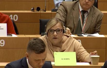 Beata Kempa, Parlament Europejski, 5 września 2019