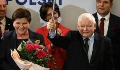Jarosław Kaczyński i Beata Szydło w Wadowicach 21 września