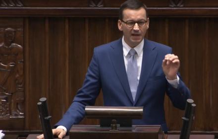 Exposé premiera w Sejmie