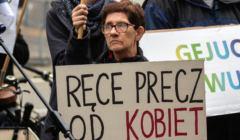 Protest Kobiet przeciwko zaostrzeniu ustawy antyaborcyjnej