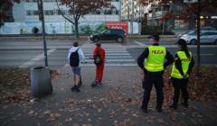 Przejscie dla pieszych przy ulicy Sokratesa w Warszawie