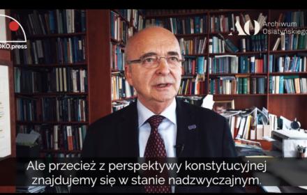 Prof. Wyrzykowski: zmiana ustroju Rzeczpospolitej jest faktem
