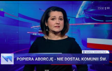 Wiadomości TVP jak katolickie kazanie: aborcja to zabójstwo, nawet ta zgodna z prawem