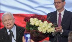 Jarosław Kaczyński i Mateusz Morawiecki, wieczór wyborczy 13.10.2019