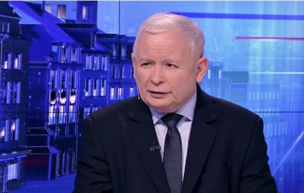 Jarosław Kaczyński w TVP Info