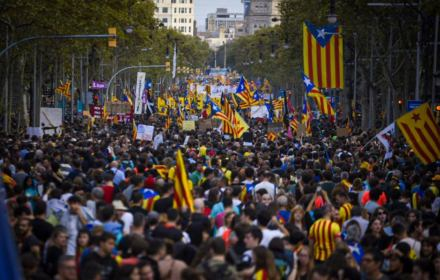 Protest w Barcelonie, 19.10.2019
