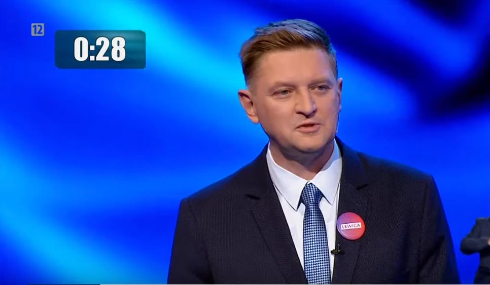 Andrzej Rozenek, debata przedwyborcza TVP, 1 października 2019