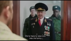 Klatka ze spotu wyborczego w Rosjo