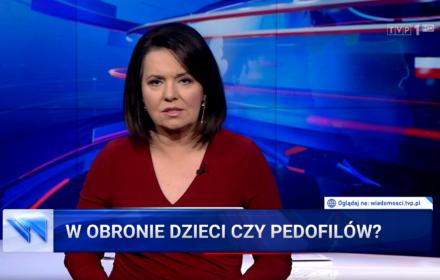 """W """"Wiadomościach"""" TVP o Parlamencie Europejskim: """"To parlament pedofilski"""""""